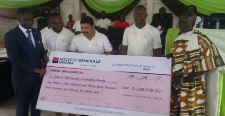 Nyonkopa distributes GHC 2.3m as Cocoa Horizons Premium for cocoa farmers in Ghana