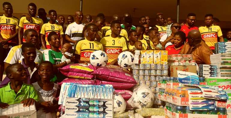 Duffour foundation and Black Stars donate to 3 orphanages in Kumasi