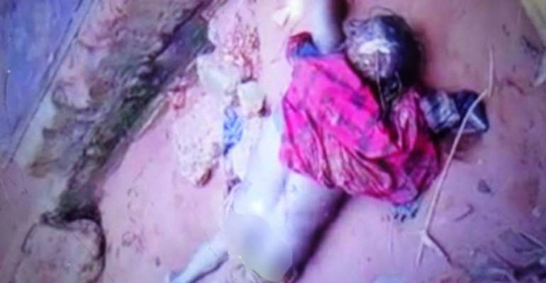 Body of Afia Atta lying in the gutter