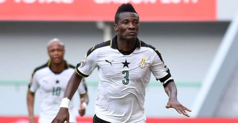 Asamoah Gyan equals Van Persie and Edin Dzeko's international scoring record