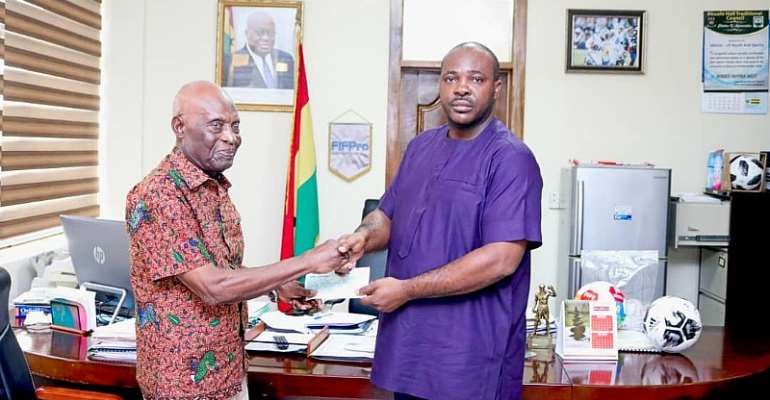 Sports Minister Awards Former Black Stars Doctor With GH¢35,900