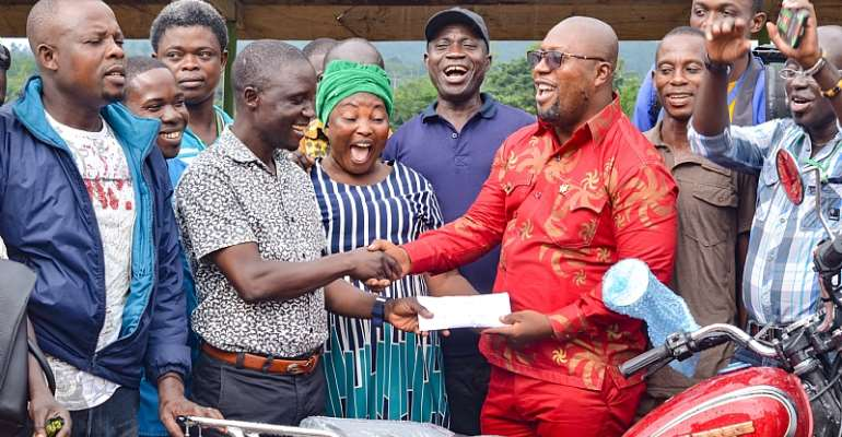 Prestea Huni-Valley MCE Give Motorbikes To Assembly Members