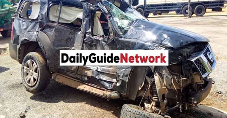 The Chinese Man vehicle and the mangled minibus