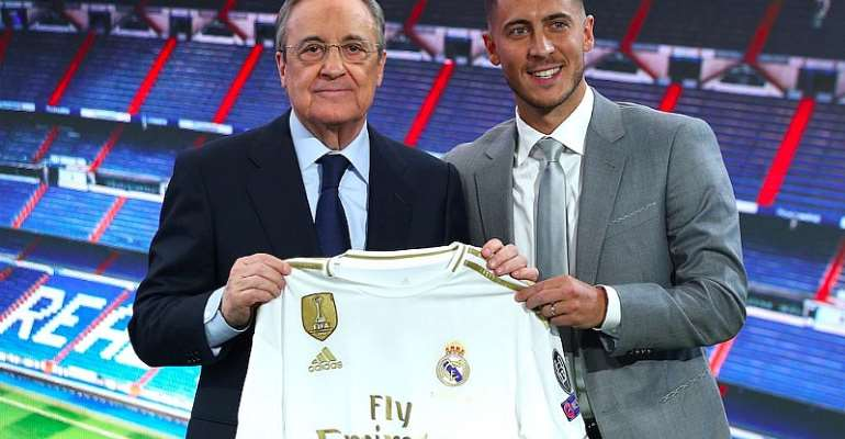 REAL MADRID PRESIDENT AND EDEN HAZARD