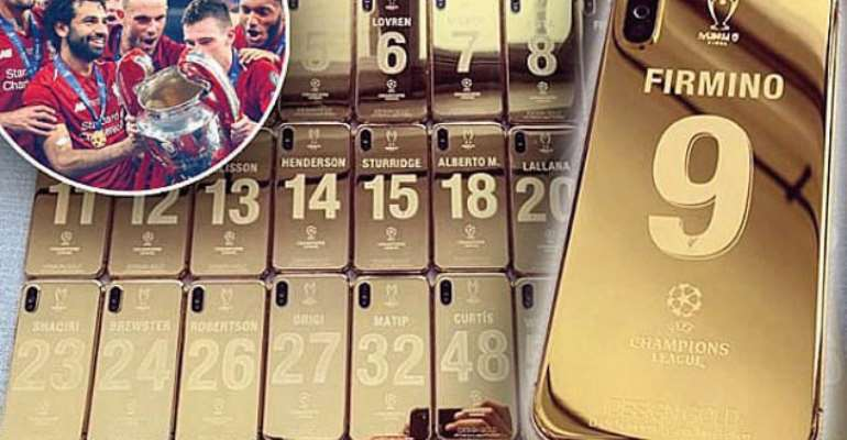 Liverpool stars receive 24-carat gold plated iPhone X worth £3,500