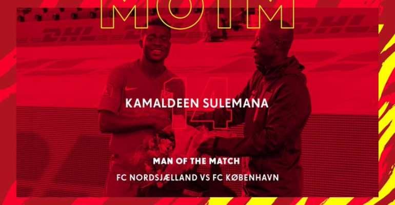 Nordsjaelland Teen Kamaldeen Sulemana Adjudged MoTM In Draw Against FC Copenhagen