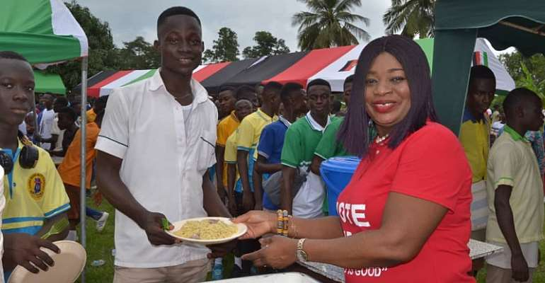 Agona East MP Fetes BECE Candidates After Last Paper