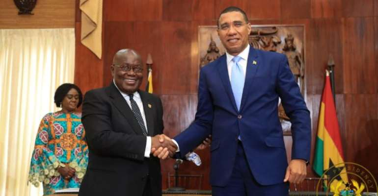 President Akufo-Addo and Jamaican Prime Minister, AndrewHolness.