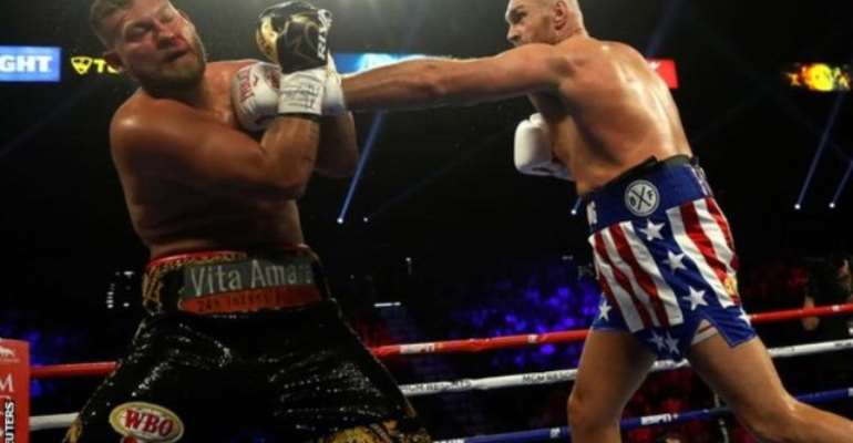 Fury Stops Schwarz In Second Round Of Heavyweight Fight