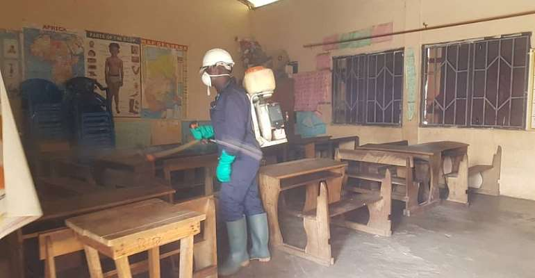 COVID-19: Ahafo Regions Commence Disinfection Of  Basic And Junior High Schools