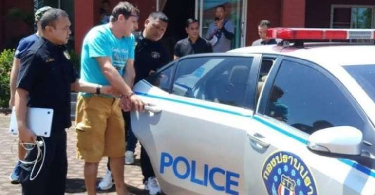 The two were arrested on the outskirts of Pattaya in Thailand