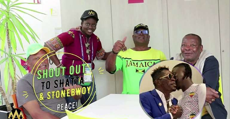 2019 FIFA WWC: Jamaica Fans Send Love Message To Shatta Wale And Stonebwoy [VIDEO]