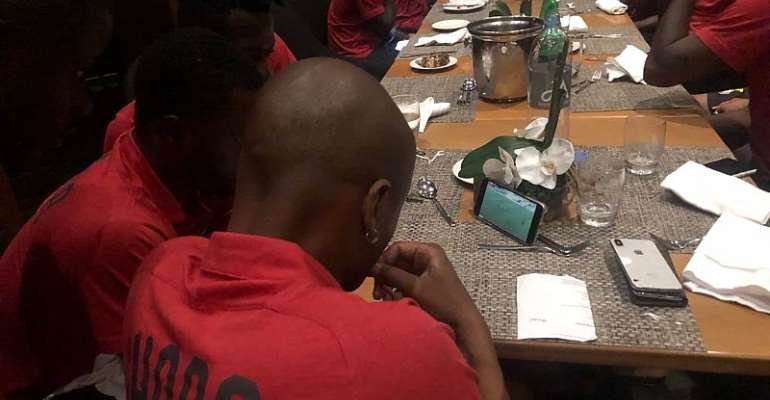 NC Special Cup: Black Stars Players Watch Semifinal Clash Between Hearts And Kotoko