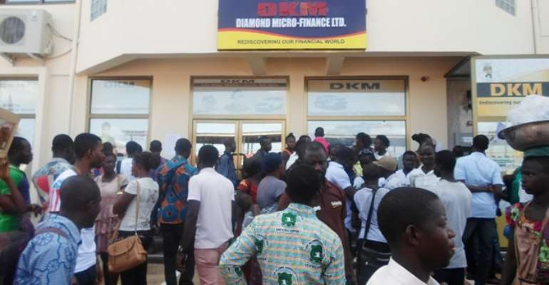 Where Our Money Dey? – Angry Depositors Of DKM Disappointed At Akufo-Addo