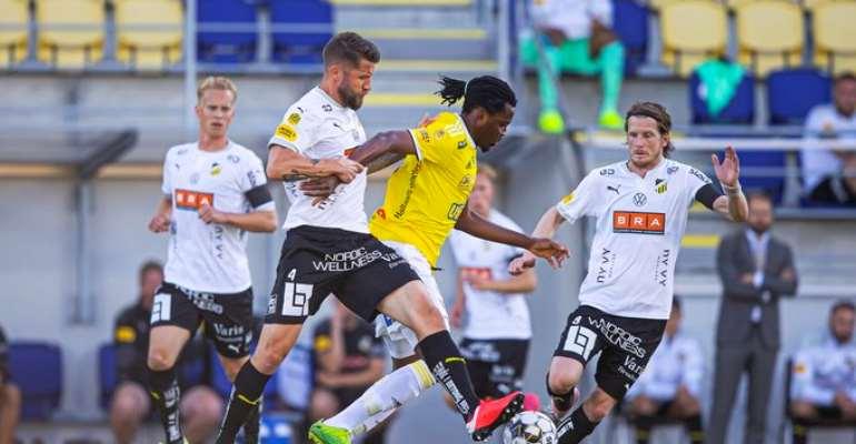 Falkenbergs FF Striker Kwame Kizito Suffers Serious Knee Injury