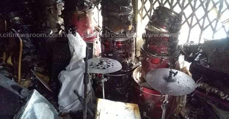 Koforidua: Fire Outbreak Destroys Musical Instruments