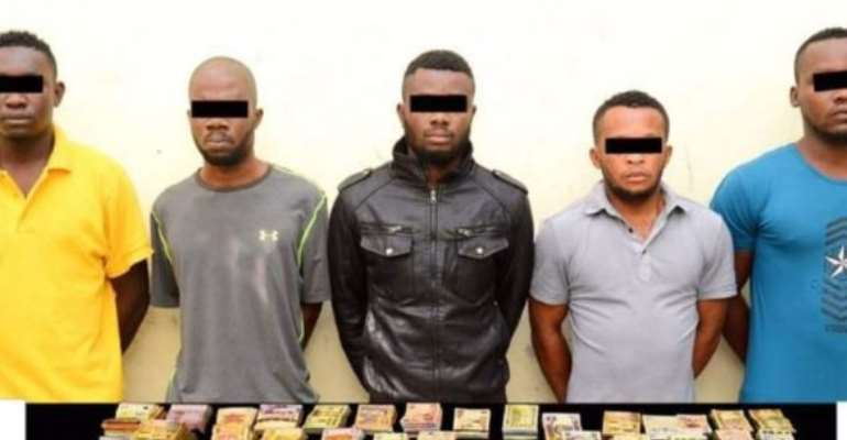 Five Nigerian men arrested in the UAE for allegedly stealing Dh 2.3 million Dinars (N225m) from a Bureau de Change.