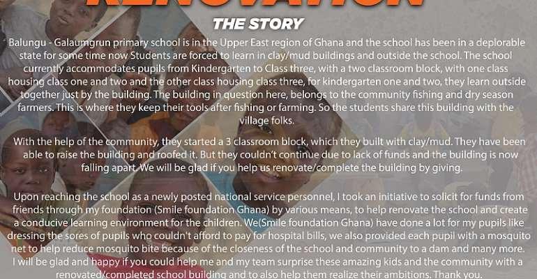 Balungu - Galaumgrun Primary School Learn Under Clay Building
