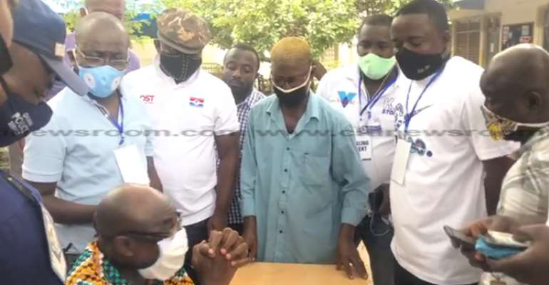 NPP Primaries: Chaos As Delegate Named Already Ticked As Voted At Okaikoi South