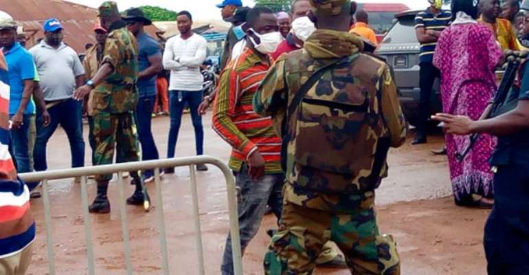 NPP Primaries: Heavy Security In Yendi Collation Centre