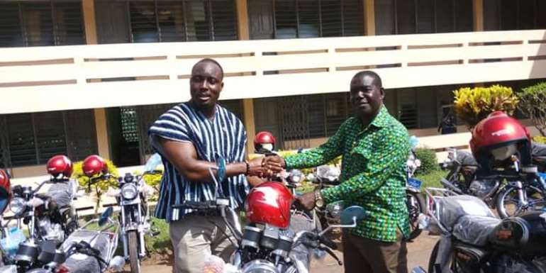 Nzema East MCE Donates Motorbikes To Assembly Members