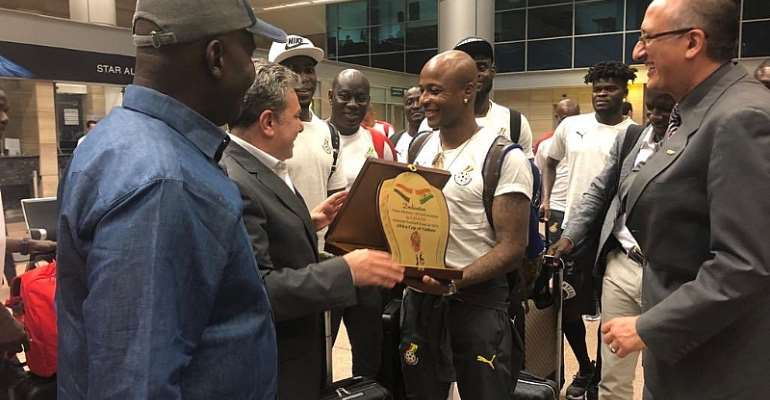 AFCON 2019: Black Stars Arrive In Cairo For AFCON [PHOTOS+VIDEOS]