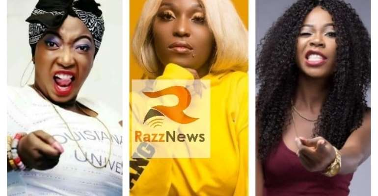 VIDEO: Eno Barony, Freda Rhymz, Ohemaa Dadao Finally Tussle Over Best Rapper Title On Live TV