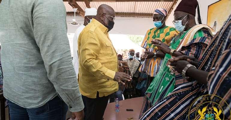 We're going to establish a guinea fowl processing factory here in Bawku — Akufo-Addo