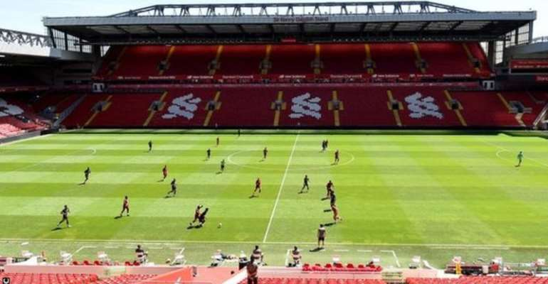 Liverpool held an 11 v 11 game in training at Anfield on Monday