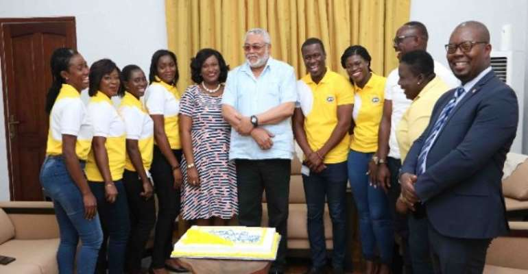Volta NDC Women, MTN Eulogise Rawling's On 72nd Birthday