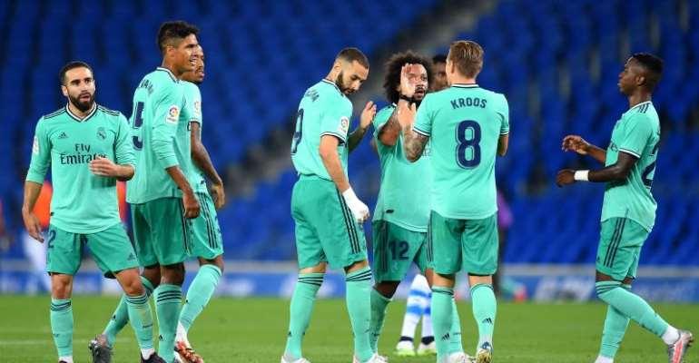 Real Madrid Go Top Of La Liga After Edging Past Real Sociedad