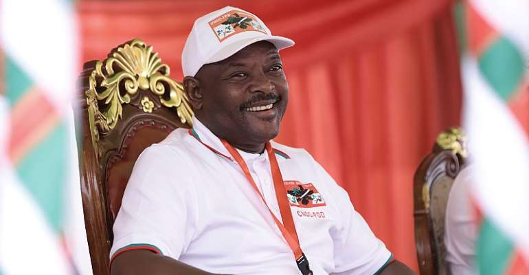 Former Burundian president, the late Pierre Nkurunziza  - Source: Stringer/AFP via GettyImages