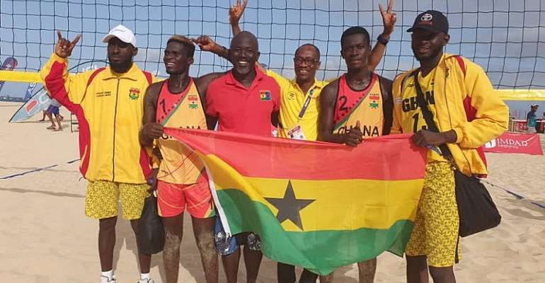 Ghana beach volleyball team in Morocco for Olympic qualifier