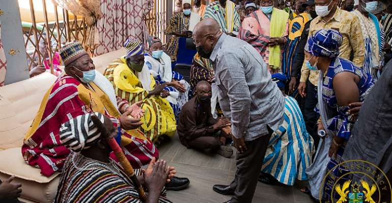 It's a pity Nalerigu and Bunkpurugu didn't vote for NPP in the 2020 elections — Akufo-Addo to chiefs in North East