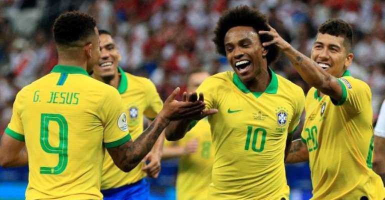 Brazil Crush Peru 5-0 To Reach Copa America Last Eight