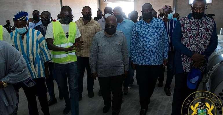 Alan Kyerematen, Akufo-Addo visit two 1D1F's in Bawumia's hometown