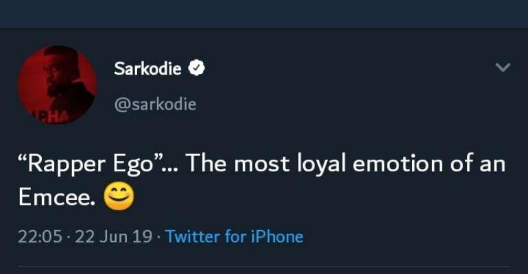 Sarkodie Finally Tweets On Medikal, Strongman Fracas