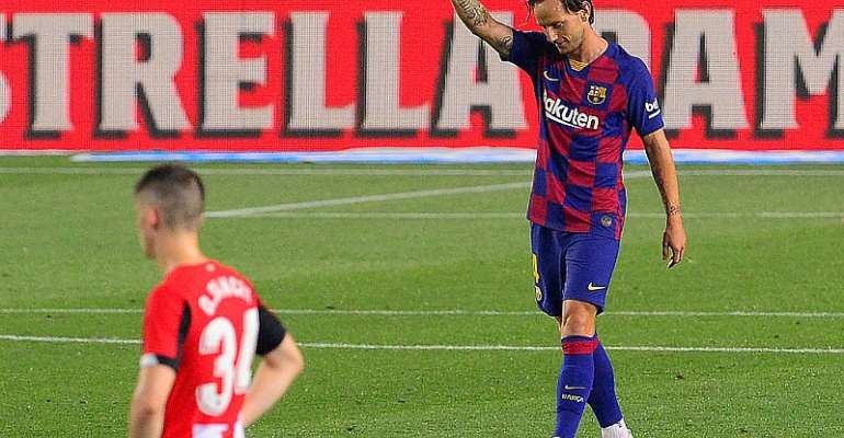 Rakitic saves Barca's blushes against Athletic Bilbao