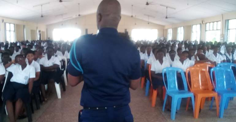 Chief Inspector Oppong at Notre Dame, SHS , Fiapre