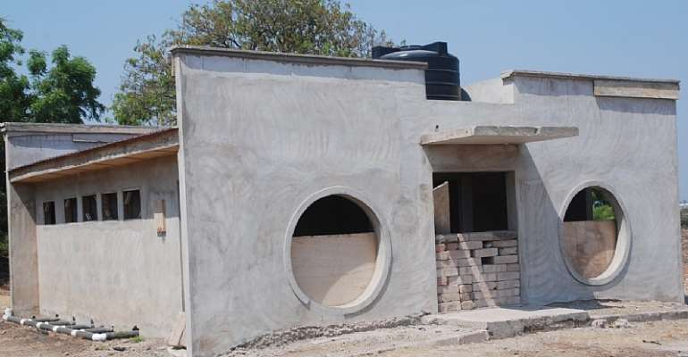 A MODERN TOILET FACILITY UNDER CONSTRUCTION AT AMANTIN