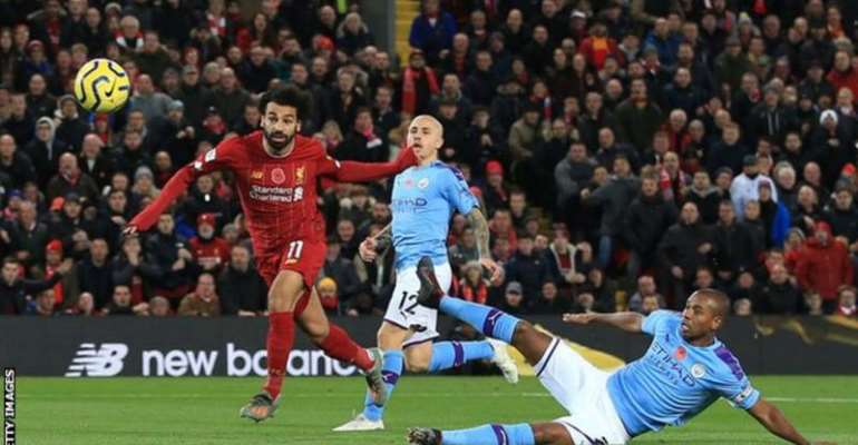 Mohamed Salah scored in Liverpool's 3-1 win over Manchester City when the sides last met in the Premier League in November