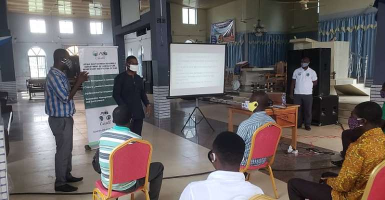 District Coordinating Director For Atiwa East Urges Farmers To Embrace Conservative Agriculture