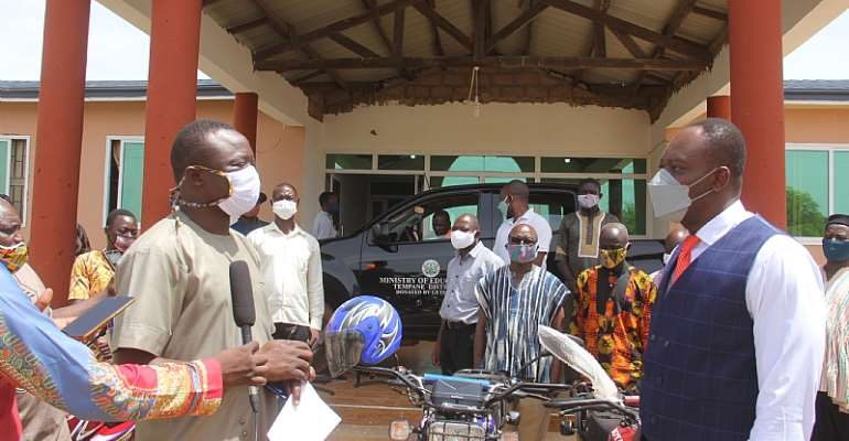 Garu District: GES Gets 5 New Motorbikes And Pick Up Vehicle