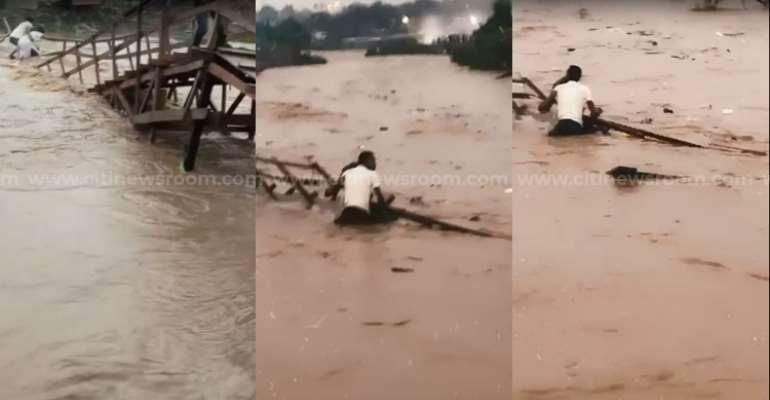 Kumasi: 50-year-old woman drowns after wooden footbridge collapses [Video]