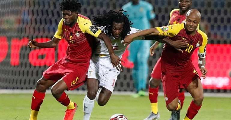 AFCON 2019: 10-Man Ghana settles for a 2-2 draw with Benin