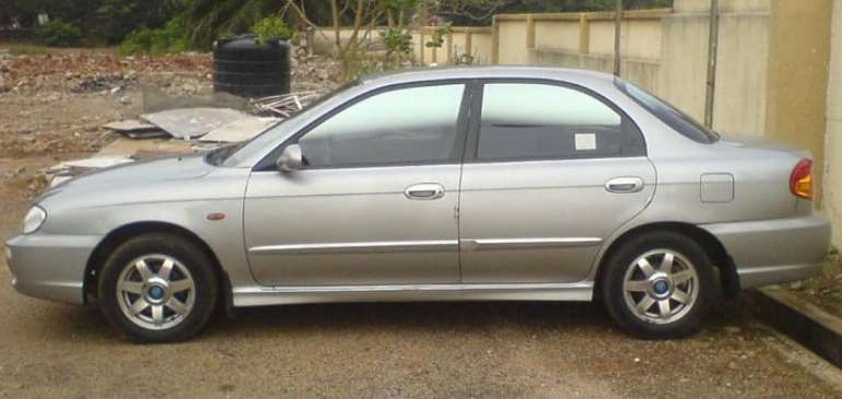 The Kia Spectra car, registered AS 1638-11, stolen from the Baba Yara Stadium