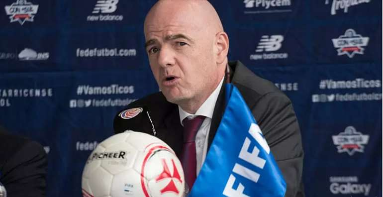 FIFA boss Gianni Infantino has promised 'strict controls' on how money from the relief fund is spent. © Ezequiel Becerra, AFP