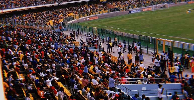 Spectators at a previous Hearts-Kotoko game in Accra.