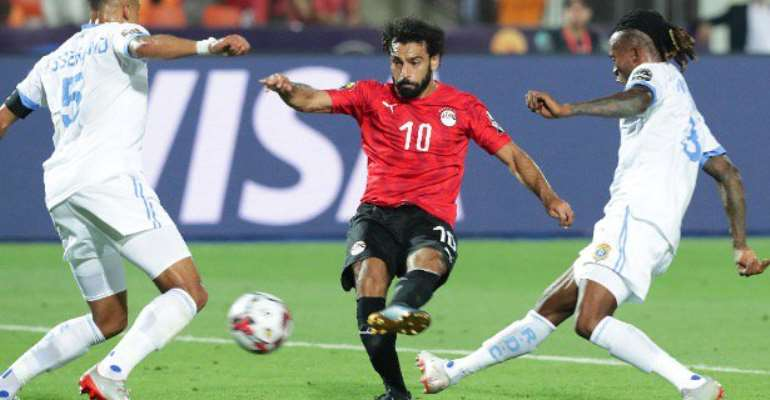 HIGHLIGHT: Watch Mo Salah's First AFCON Goal That Helped Egypt Advance Into Round 16