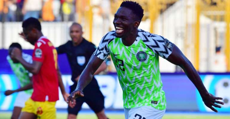 AFCON 2019: Omeruo Header Helps Nigeria Qualify For Last 16